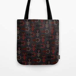 Blood Tree Maze - Industrial Version - Runic Tree Inspired Pattern Tote Bag