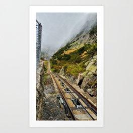 One Way Train Art Print