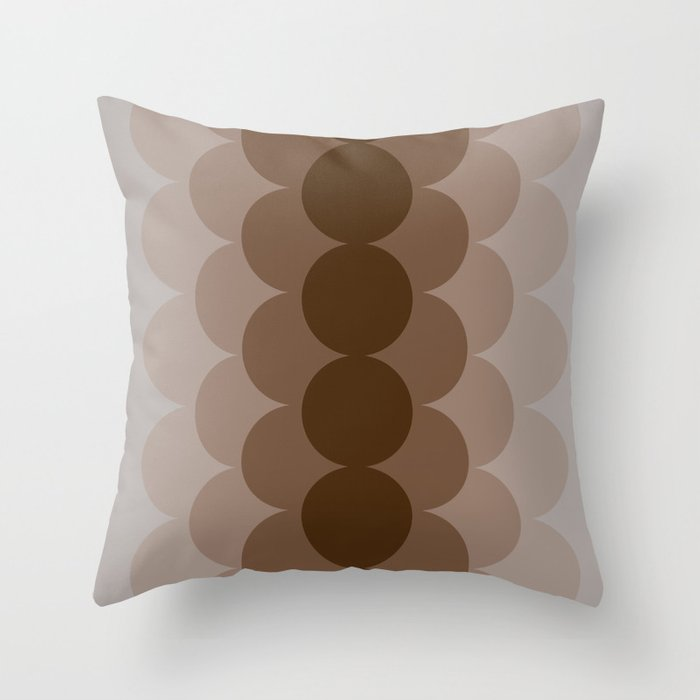 Gradual Capuccino Throw Pillow