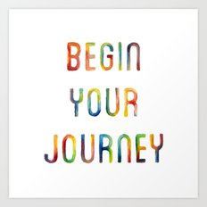 Begin Your Journey Color Flow Art Print