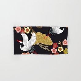 Japanese bird pattern Hand & Bath Towel