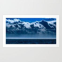 Double Cloud Sky Art Print