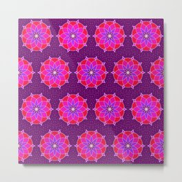 Pink Purple Floral Metal Print