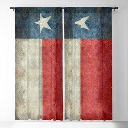 Texas flag, Grungy Vertical Banner Blackout Curtain