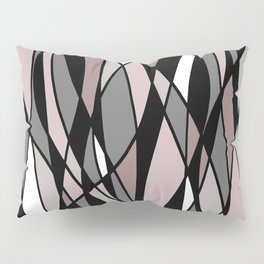Abstract Mosaic (Pink, Grey, White) Pillow Sham