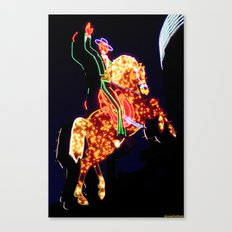 Electric Horseman Canvas Print