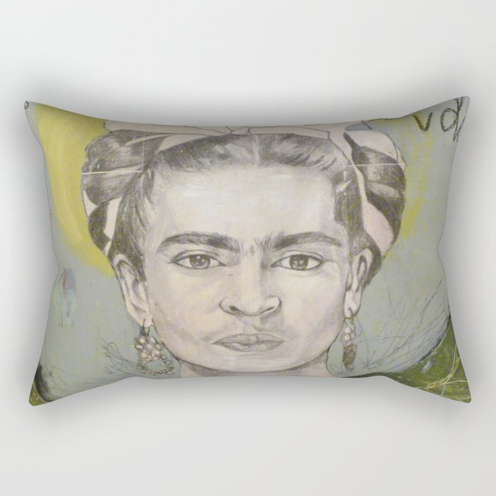 "Frida ""Pies, para que los quiero?"" Rectangular Pillow"
