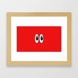 Eyes on the red skin Framed Art Print