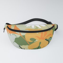 Spring Bouquet, Lilies, Daisies, art print, poster. Fanny Pack