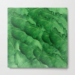 Banana leaves Tropical Metal Print