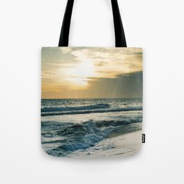 Sunset at the beach Tote Bag