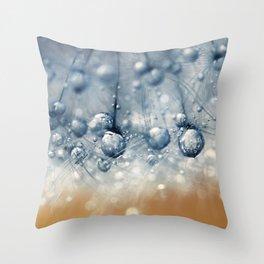 Sea Blue Dandy Throw Pillow