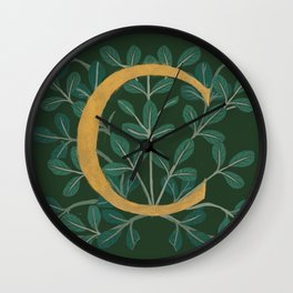 Forest Letter C 2018 Wall Clock