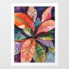 Colorful Tropical Leaves 1 Art Print