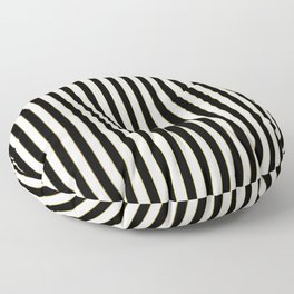 Vintage Art Deco Gold Black and White Pin Stripes Floor Pillow