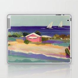 PINK COTTAGE BEACH Laptop & iPad Skin