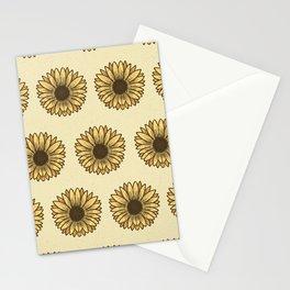 Retro Pop Sunflowers x Pastel Yellow Stationery Cards