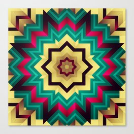 Geometric kaleidoscope with star shapes Canvas Print