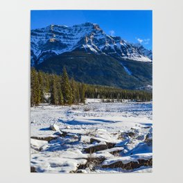 Mount Kerkeslin in Jasper National Park, Alberta Poster
