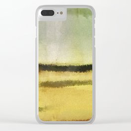 Three Lines - Digital Abstract Painting Clear iPhone Case