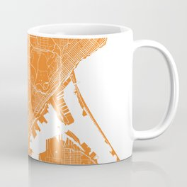 Duluth map orange Coffee Mug
