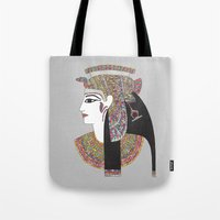 egyptian Tote Bags featuring EGYPTIAN GODDESS by Bianca Green