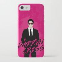 darren criss iPhone & iPod Cases featuring Pink Darren Criss by byebyesally
