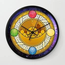 Sailor Moon Crystal stained glass window Transformation Brooch Wall Clock