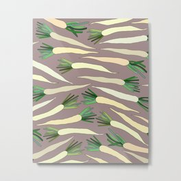 Daikon Radish Carrot Roots Metal Print