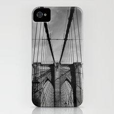 New York City, Brooklyn Bridge B/W Slim Case iPhone (4, 4s)