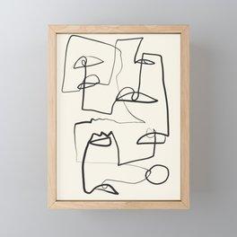 Abstract line art 12 Framed Mini Art Print