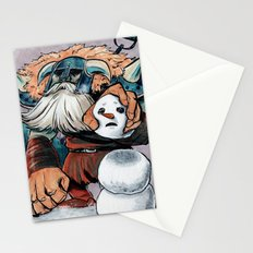 Polar Knight Makes a Friend Stationery Cards