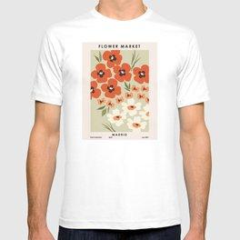 Flower market. Madrid T-shirt