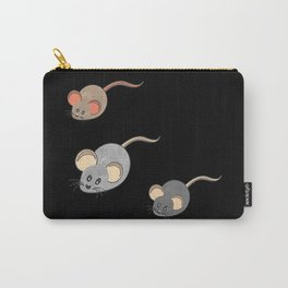 Three mice, mice fan, animals Carry-All Pouch