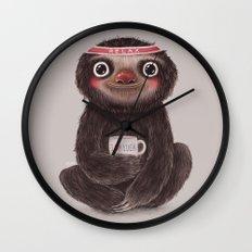 Sloth I♥yoga Wall Clock