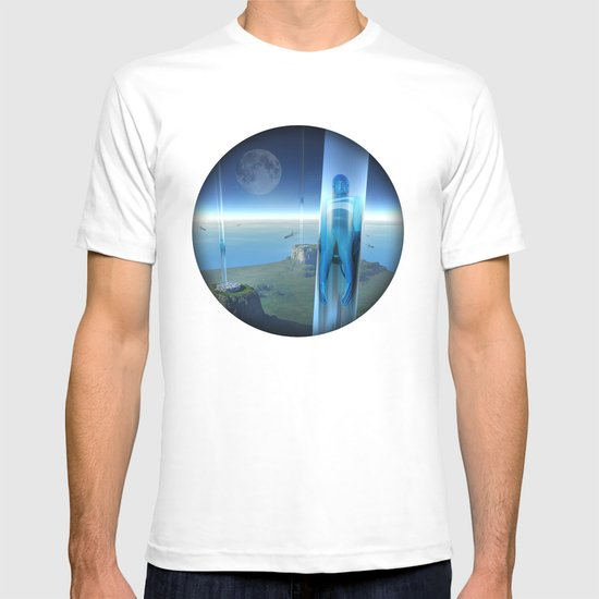 space elevator - babylon transfer station 02 T-shirt