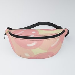 Pink Bubbles with Yellow Background  Fanny Pack