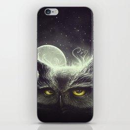 Owl & The Moon iPhone Skin