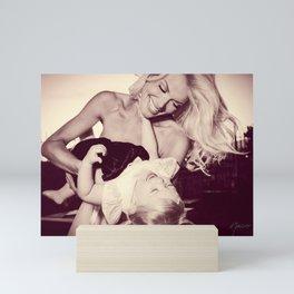 0181 Model Selena and daughter Mini Art Print