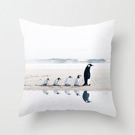 Penguin Family Throw Pillow