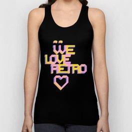 We Love Retro Unisex Tank Top