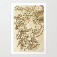 henna Art Prints featuring henna by Julia Loring