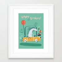 happy birthday Framed Art Prints featuring Happy birthday! by Villie Karabatzia