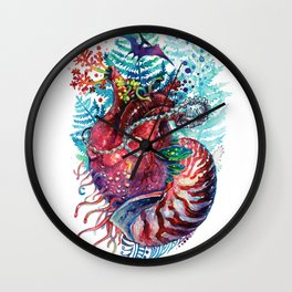 Ancient Heart Wall Clock