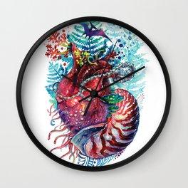 Ancient Heart Wall Clock