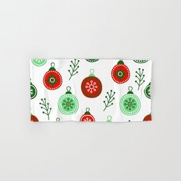 Christmas Decorations Pattern Hand & Bath Towel