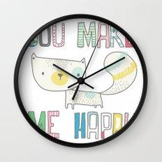 make me happy Wall Clock