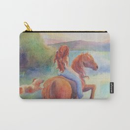 Evening Ride Girl And Horse Carry-All Pouch