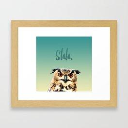 Owl Shh. Framed Art Print