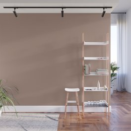 Light Coffee Brown Solid Color Pairs with Sherwin Williams Heart 2020 Color Redend Point SW9081 Wall Mural